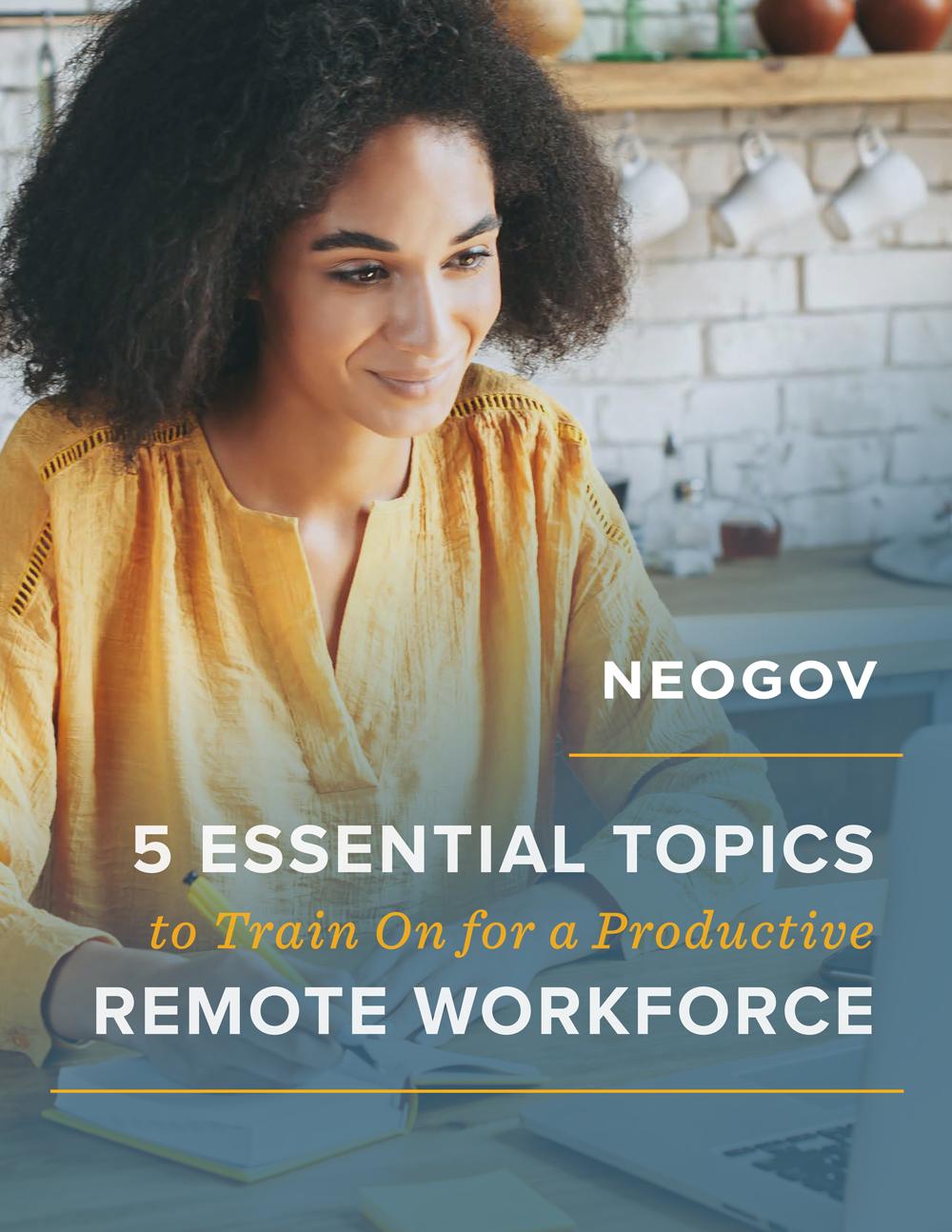 NEOGOV 5 Training Topics Remote Workforce
