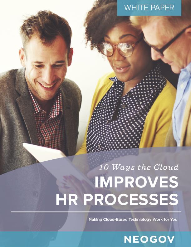 white paper: 10 ways the cloud improves HR processes